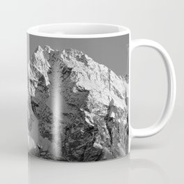Moon Over Pioneer Peak B&W Coffee Mug