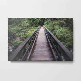 The bridge at Cedar Creek Metal Print
