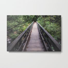 The bridge at Cedar Creek Metal Print