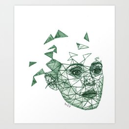 Claire Foy Fracture Drawing Art Print