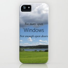 Too Many Windows iPhone Case