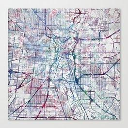 San Antonio map Canvas Print
