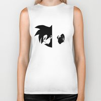 vegeta Biker Tanks featuring Goku & Vegeta SS4 Face  by Prince Of Darkness