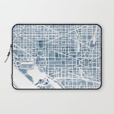Washington DC Blueprint watercolor map Laptop Sleeve