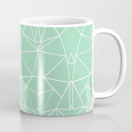 Abstract Mirror Mint Coffee Mug