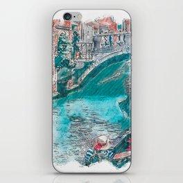 Italia Venice Bridge Urban Sketching iPhone Skin