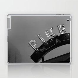 Seattle Pike Place Market Black and White Laptop & iPad Skin