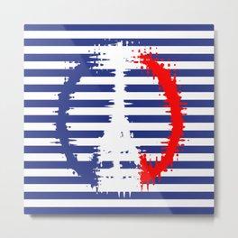 Navy PARIS Metal Print