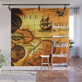 map sea Wall Mural