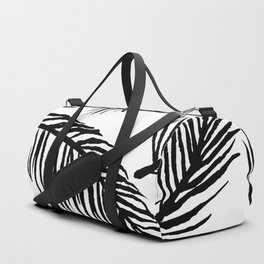 Black & White Palm Leaves Duffle Bag