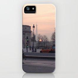 La tour Eiffel at Sunset iPhone Case