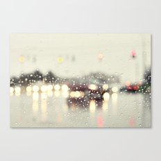 driving in the rain Canvas Print