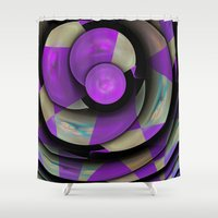 cycling Shower Curtains featuring Cool Cycling Circles by thea walstra