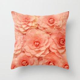 Pink Camelias... Throw Pillow