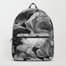 Bella Rose Black and White Backpack