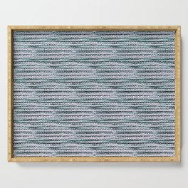 Knitting-like crochet texture Serving Tray