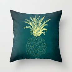 y-hello pineapple Throw Pillow