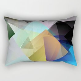 Holographic mountains in Silicon Valley. Rectangular Pillow