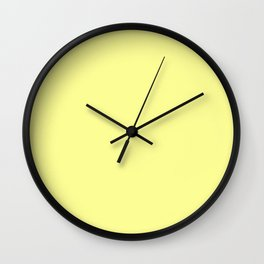 Soft Chalky Pastel Yellow Solid Color Wall Clock