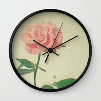 blush Wall Clocks featuring Blush by Cassia Beck
