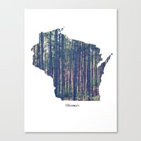 wisconsin Canvas Prints featuring Wisconsin by Cassie B Clark