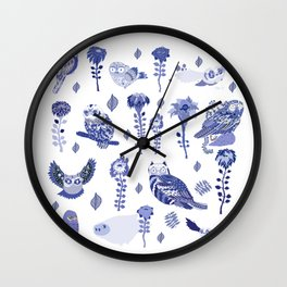 owl index Wall Clock
