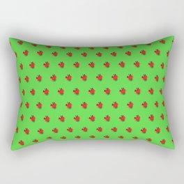 Strawberry Green - Posterized Rectangular Pillow