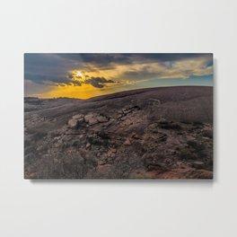 Sunset at Enchanted Rock Metal Print