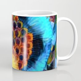 Berry Cluster, Blue Twilight abstract portrait painting by Prefect Severino Coffee Mug