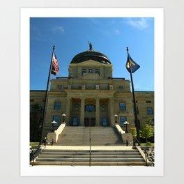 Montana State Capitol Art Print