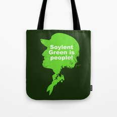 Soylent Green –  Silhouette Quote Tote Bag