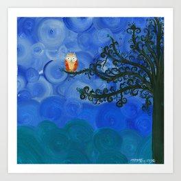 Owl Art by MiMi Stirn - Owl Singles #336 Art Print