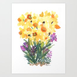 Spring Daffodil Patch Art Print