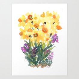 Spring Daffodil Patch Art Print