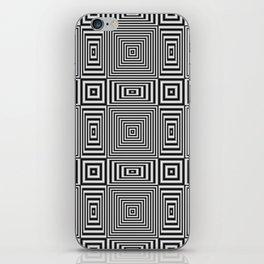 Flickering geometric optical illusion iPhone Skin