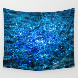 Water Color - Dark Blue - Navy Wall Tapestry