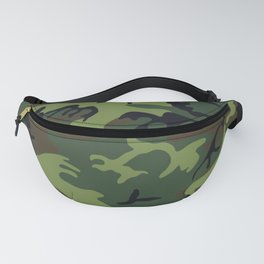 Green Forest Military Camo Fanny Pack