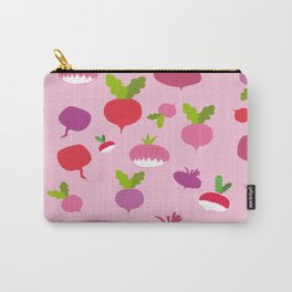 Pink Radish Carry-All Pouch