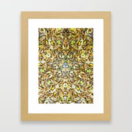 A Circle of Leaves Framed Art Print