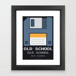Old School Computer Floppy Diskette Framed Art Print