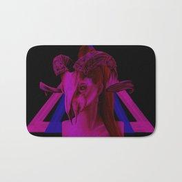 Neon Ram Girl Bath Mat