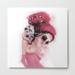 Red Coloured Dreams Metal Print