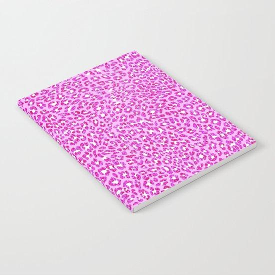 Light Pink Glitter Cheetah Print Notebook