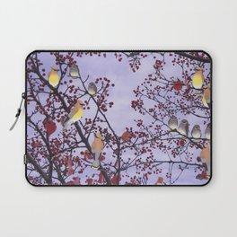 cedar waxwings and berries Laptop Sleeve