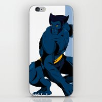 beast iPhone & iPod Skins featuring Beast by Andrew Formosa