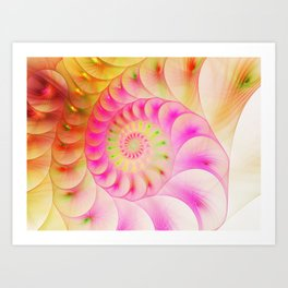 Abstract bright colorful snail background. Art Print