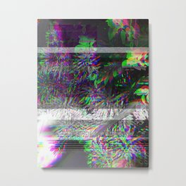 PLANtS GLiTcH 1 Metal Print