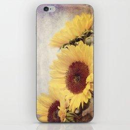 Purple Sunflowers iPhone Skin