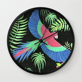 Macaw Wall Clock