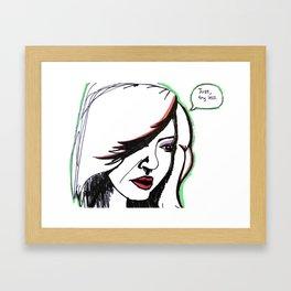 """""""Try Less"""" Framed Art Print"""